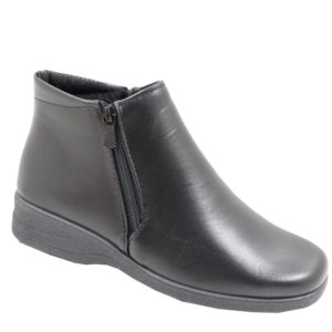 Spoiler Comfort Ankle boot with double zip Black