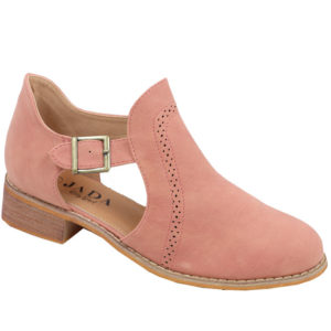 Jada ladies cut-out boot with brogue detail ash rose