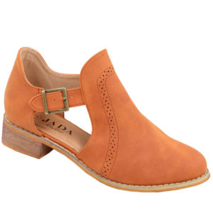 Jada ladies cut-out boot with brogue detail camel