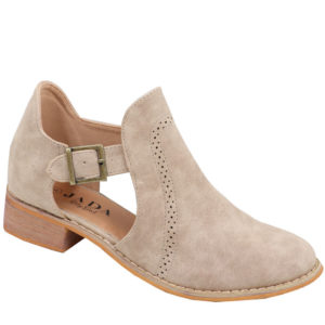 Jada ladies cut-out boot with brogue detail hazelnut
