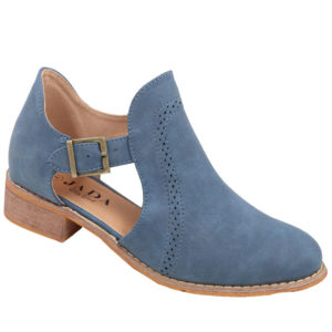 Jada ladies cut-out boot with brogue detail indigo