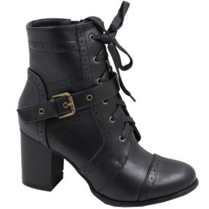 Jada ladies lace up with brogue detail boot