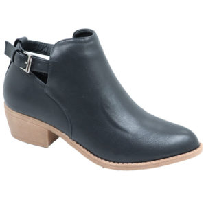 Jada ladies cut-out back strap bootie