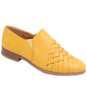 Jada ladies cross-over detail loafer mustard