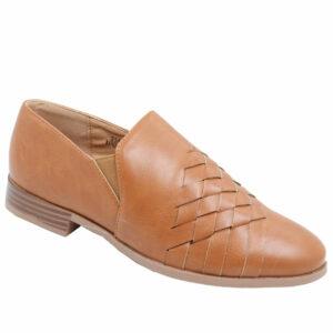 Jada ladies cross-over detail loafer tan