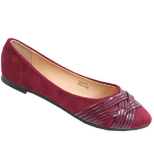 Tatazi Ladies cross-over detail basic pump burgundy