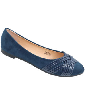 Tatazi Ladies cross-over detail basic pump navy