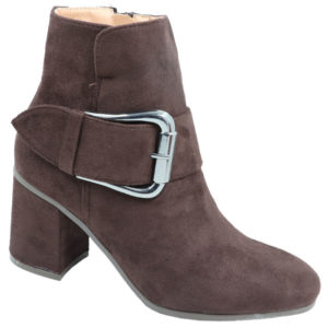 Jada Ladies Suede fashion boot with buckle detail coffee