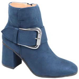 Jada Ladies Suede fashion boot with buckle detail navy
