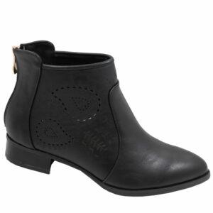 Jada Ladies PU Fashion with back zip black