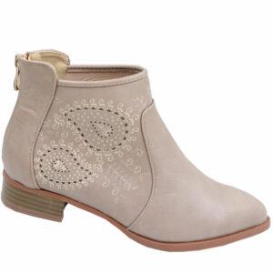 Jada Ladies PU Fashion with back zip stone