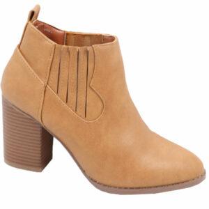 Jada Ladies Fashion boot with elastic camel