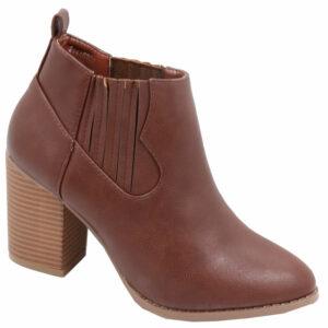 Jada Ladies Fashion boot with elastic chocolate