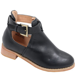Jada kidz leather look side buckle bootie black