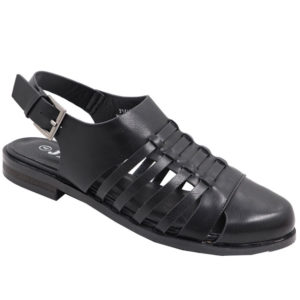 Jada Ladies closed front Fisherman Sandal Black