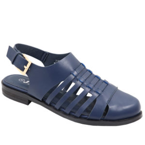 Jada Ladies closed front Fisherman Sandal Navy