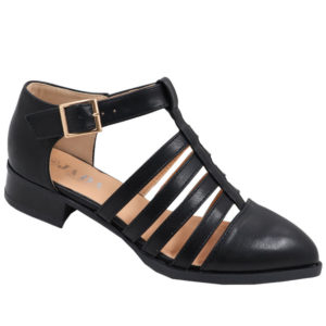 Jada Ladies PU closed back Strappy Sandal Black