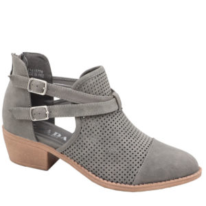 Jada Ladies pin punch ankle boot grey