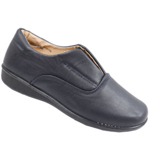 Spoiler Ladies Comfort Pump with stretch elastic detail navy
