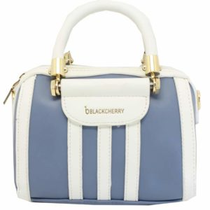 Blackcherry Blue Three Stripes Mini Barrel Bag