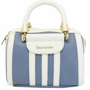 Blackcherry Blue Three Stripes Mini Barrel Bag