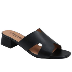 Tatazi Ladies Cut Out Low Heel Mule Black