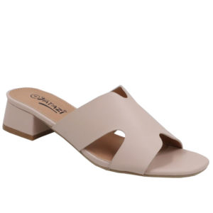 Tatazi Ladies Cut Out Low Heel Mule Nude