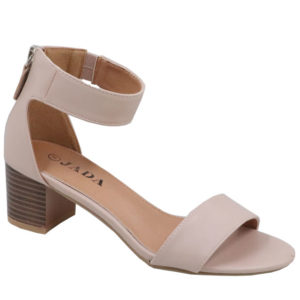Jada Ladies PU Sandal with Tassel Detail Nude