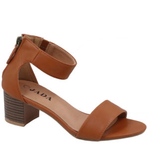 Jada Ladies PU Sandal with Tassel Detail Tan