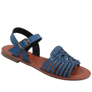 Model Me Ladies PU Flat Fashion Sandal Navy