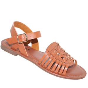 Model Me Ladies PU Flat Fashion Sandal Tan