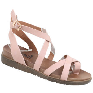 Tatazi Ladies Cross-over Strappy Toe Sandal Pink