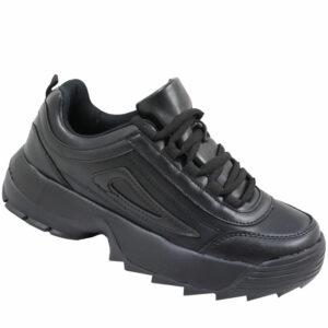 Jada Ladies PU Funky Platform Sneaker Black