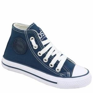 DSL Kiddies Fashion Sneaker Navy/White