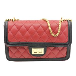 Blackcherry Red Quilted Structured Cross Body