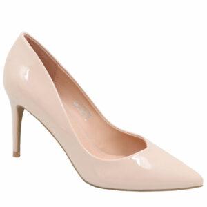 Jada Ladies Patent V-Cut Heel Nude