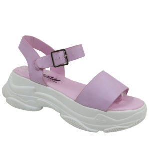 Jada Ladies Chunky Sandal with Ankle Strap Lilac
