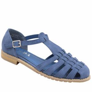 Jada Ladies Pu Strappy Closed Back Sandal Indigo