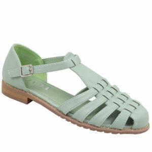Jada Ladies Pu Strappy Closed Back Sandal Mint
