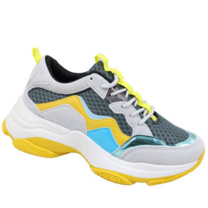 Jada Ladies Fashion Chunky Sneaker Yellow/Grey