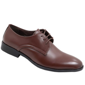 City Style Men's Lace Up Formal PU Shoe Brown