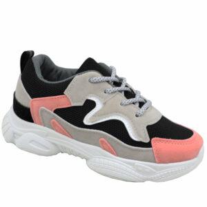 Jada Kiddies Fashion Sneaker Black/Pink