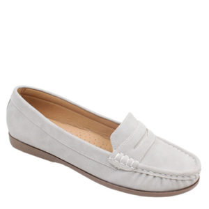 Spoiler Ladies Comfort Nubuck Mocassin Light Grey