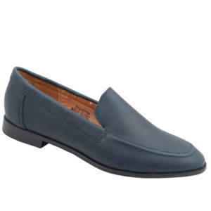 Jada Ladies Basic PU Loafer with Stitching Detail Navy