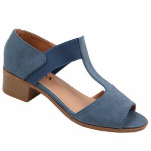 Jada Ladies Elasticated Low Heel Sandal Indigo