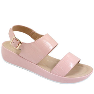 Spoiler Ladies Comfort Croc Sandal with Side Buckle Pink