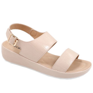Spoiler Ladies Comfort Croc Sandal with Side Buckle Sand