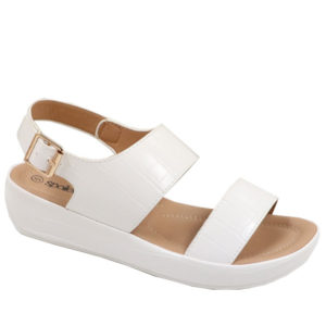 Spoiler Ladies Comfort Croc Sandal with Side Buckle White