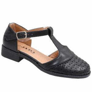 Jada Kidz Girls T-bar Low Heel Sandal Black