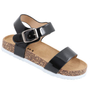 Jada Kidz Patent Sandal With Ankle Strap Black